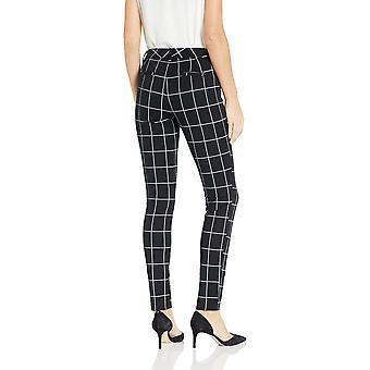 Essentials Women's Skinny Pant, Black Windowpane, 12 Regular