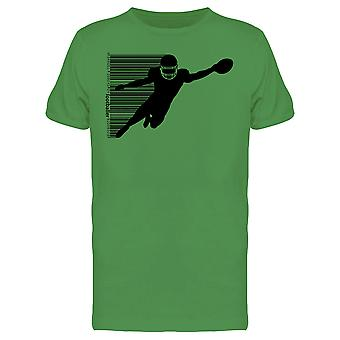 Football Player Black Silhouette Tee Men's -Image by Shutterstock