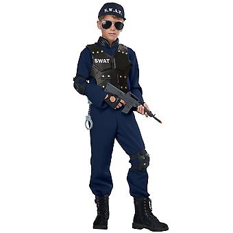 Junior SWAT S.W.A.T. Military Police Cop Book Week Child Girls Boys Costume