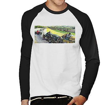 The Saturday Evening Post Vintage Race Car Peter Helck Men's Baseball Long Sleeved T-Shirt