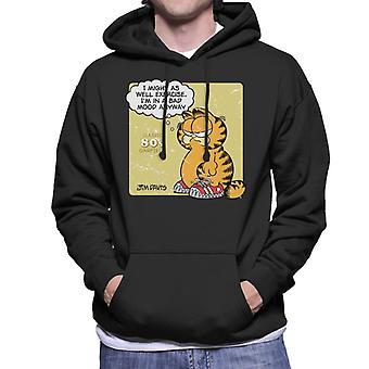 Garfield Classic 80s Exercise Quote Men's Hooded Sweatshirt