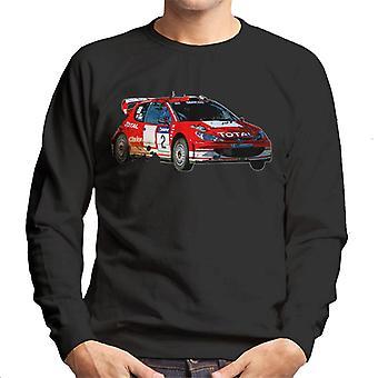 Motorsport Bilder Peugeot 206 WRC Men's Sweatshirt