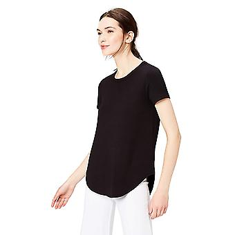 Daily Ritual Women's Supersoft Terry Short-Sleeve Shirt With Shirttail Hem, B...