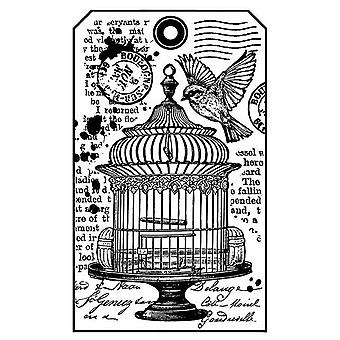 Stamperia Natural Rubber Stamp Petite Cage