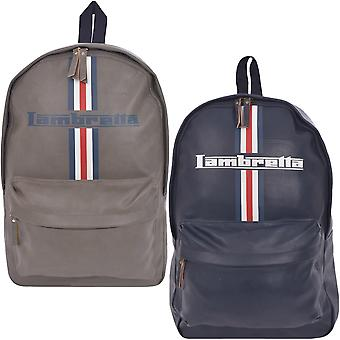 Lambretta Mens Adjustable Casual Fashion Travel School Backpack Rucksack Bag