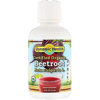 Dynamic Health  Laboratories, Certified Organic Beetroot, 16 fl oz (473 ml)