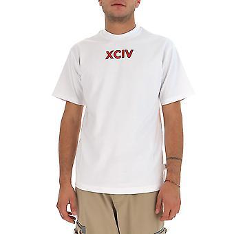 Gcds Fw21m02009901 Men's White Cotton T-shirt