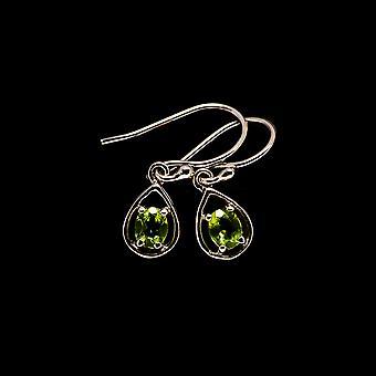"Peridot Ohrringe 7/8 "" (925 Sterling Silber) - handgemachte Boho Vintage Schmuck EARR405109"
