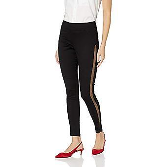 HUE Women's Plus Size Fashion Denim Leggings, Assorted, High Waist Mesh tuxed...