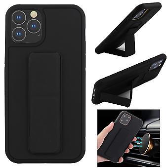CF iPhone 11 Pro (5.8) Kuori kahvalla ja magneetilla (musta)