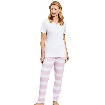 Rösch 1203061-15644 Femmes's Smart Casual Ringlet Pink Striped Pyjama Set