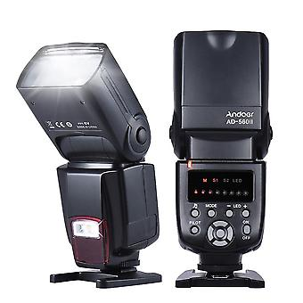 Ad-560 Ii Camera Flash Speedlite With Adjustable Led Fill Light Universal Flash For Canon Nikon Olympus Pentax Cameras