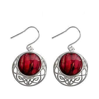 Heathergems Cormag Celtic Silver Plated Drop Earrings