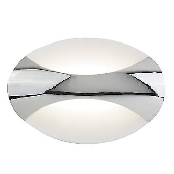 Hakuvalo - Integroitu LED 1 vaalea seinävalo kromi, hiekka valkoinen