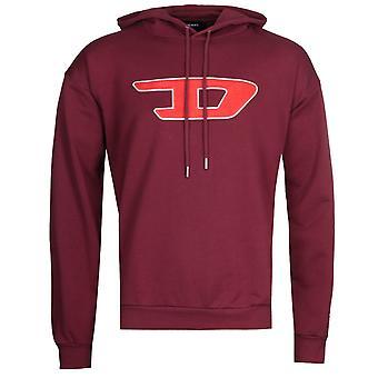 Diesel S-Division Felpa Burgundy Hooded Sweatshirt