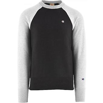Champion Black Crew Neck Sweatshirt