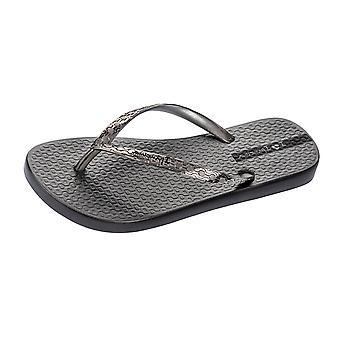Womens Ipanema Flip Flops Glam Beach Sandals - Graphite