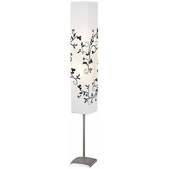 Lámpara BRILLANTE Lámpara de Soporte Nerva De Acero/Blanco/Gris Rama ? 2x C35, E14, 40W, adecuado para lámparas de vela (no incluido)