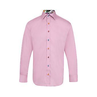 Claudio Lugli Classic Plain Pink Marble Detail Shirt