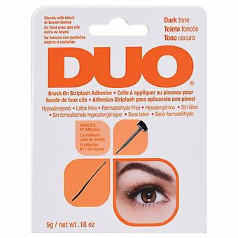 DUO Brush On Strip False Lashes Adhesive - 5g Dark Tone - Hypoallergenic Glue