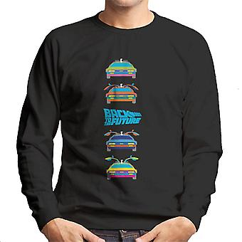 Back to the Future Delorean Doors Opening Colourful Design Men's Sweatshirt