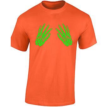 Skeleton Hands Front Halloween Glow In The Dark Mens T-Shirt 10 Colours (S-3XL) by swagwear