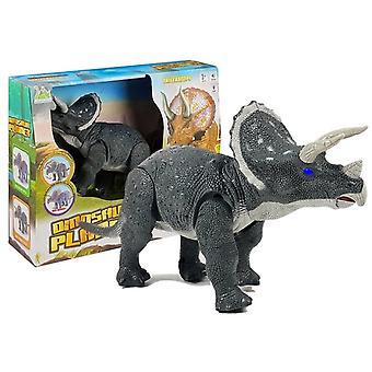 Große batteriebetriebene Dinosaurier Triceratops grau