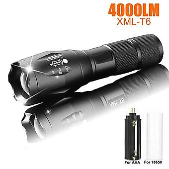 Led Rechargeable Flashlight,  Torch With 18650 Battery And 5 Modes Waterproof
