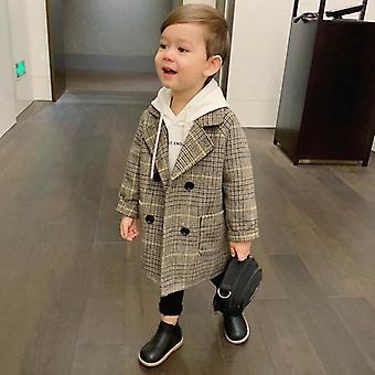 Gyermek gyapjú kabát, őszi és téli kabát