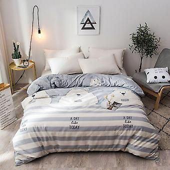 dual-sided Duvet Cover  soft Comfortable Cotton Printing Comforter -textiles Quilt Cover set 3