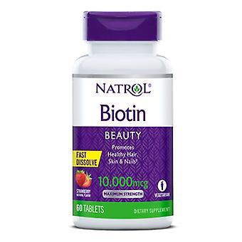 Natrol Biotin, 10000 mcg, 60 Tabs
