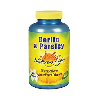 Nature's Life Garlic & Peterselie, 1.2/1mg, 250 softgels
