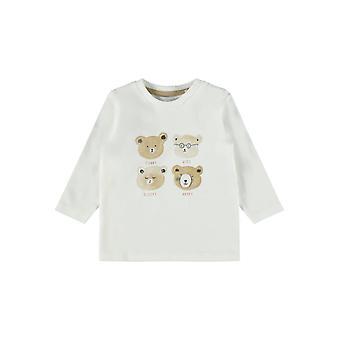 Name-it Newborn Jongens Tshirt Osse Snow White