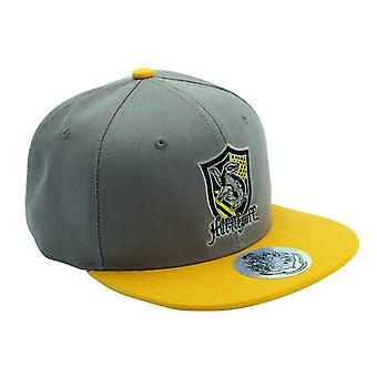 Harry Potter Baseball Cap Hufflepuff House Crest new Official Grey Strapback