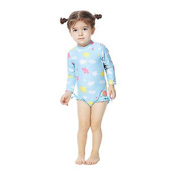 Bonverano Baby Girls UPF 50+ Sun Protection L/S Sleeves Zip Swimsuit