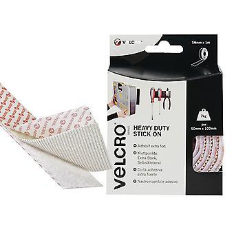VELCRO Brand VELCRO Brand Heavy-Duty Stick On Tape 50mm x 1m White VEL60242