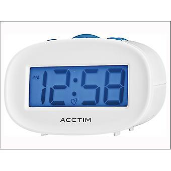 Acctim Libra LCD Alarm Clock White 15532