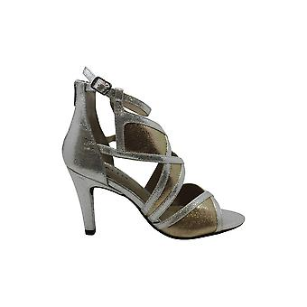 Rialto Womens Colorblocked Open Toe Formal Ankle Strap Sandals