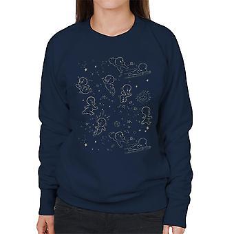 Casper The Friendly Ghost Night Stars Women's Sweatshirt