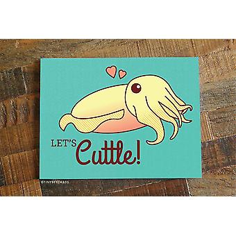 "Funny Cuttlefish Love Or Anniversary Card ""let's Cuttle!"""