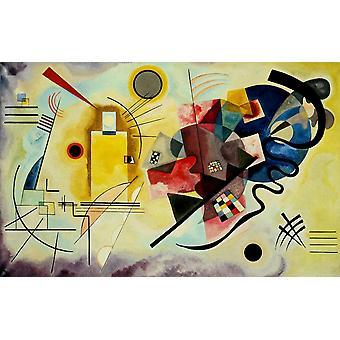 Gelb-rot-blau 1925 Poster Print von Wassily Kandinsky
