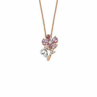 Naszyjnik z diamentem kwiatowym