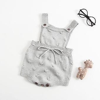 Newborn Baby Knitted Romper, Cotton Woolen Infant Kids Jumpsuit