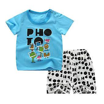 ملابس الأطفال ملابس الأطفال، ملابس نمط السمك مجموعات تي شيرت + السراويل