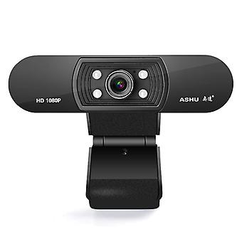 HD-webbkamera med inbyggd hd-mikrofon, usb plug play, Widescreen Video