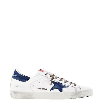 Golden Goose Gmf00101f00034310280 Hombres's zapatillas de cuero blanco