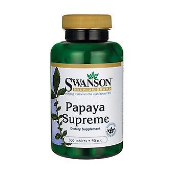 Papaya Supreme 300 tablets of 50mg
