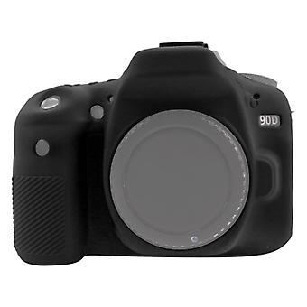 PULUZ Mäkké silikónové ochranné puzdro pre Canon EOS 90D (čierna)
