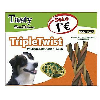 Sandimas Triple Twist, 4 Units (Dogs , Treats , Sticks)