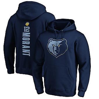 Vancouver Grizzlies 12 Morant Loose Pullover Felpa con cappuccio WY192
